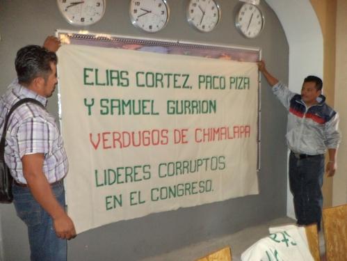 LOS CHIMAS EXIGIMOS SOLUCION NO REPRESION