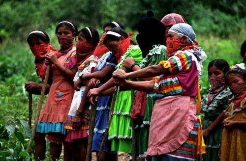 semana contra agreciones a zapatistas-mujeres zapatistas