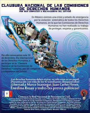 Red Nacional de Resistencia Civil-Día Internacional de los DH-nada que celebrar