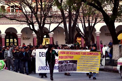 marcha por ayotzinapa_san cristobal