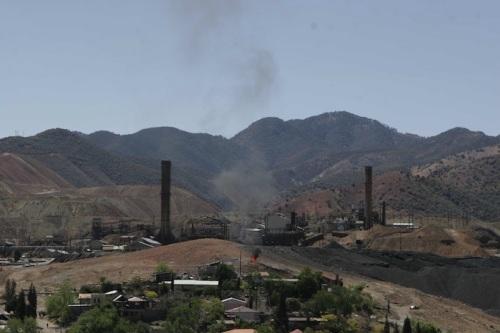 CANANEA, SONORA, 18ABRIL2009.- Panoramica de la mina que desde hace mas de dos anos permanece en huelga. FOTO: IVAN STEPHENS/CUARTOSCURO.COM